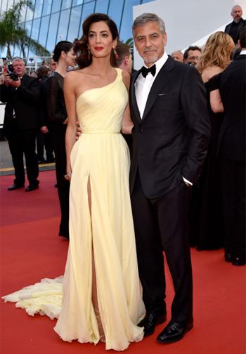 Amal Clooney em Versace