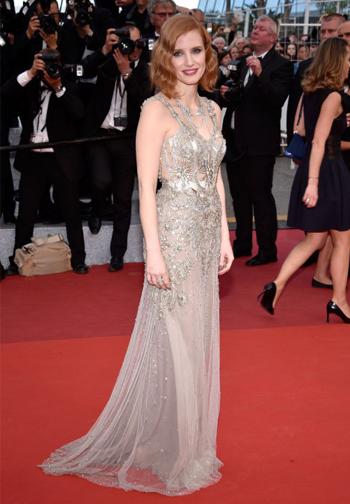 Jessica Chastain em Alexander McQueen